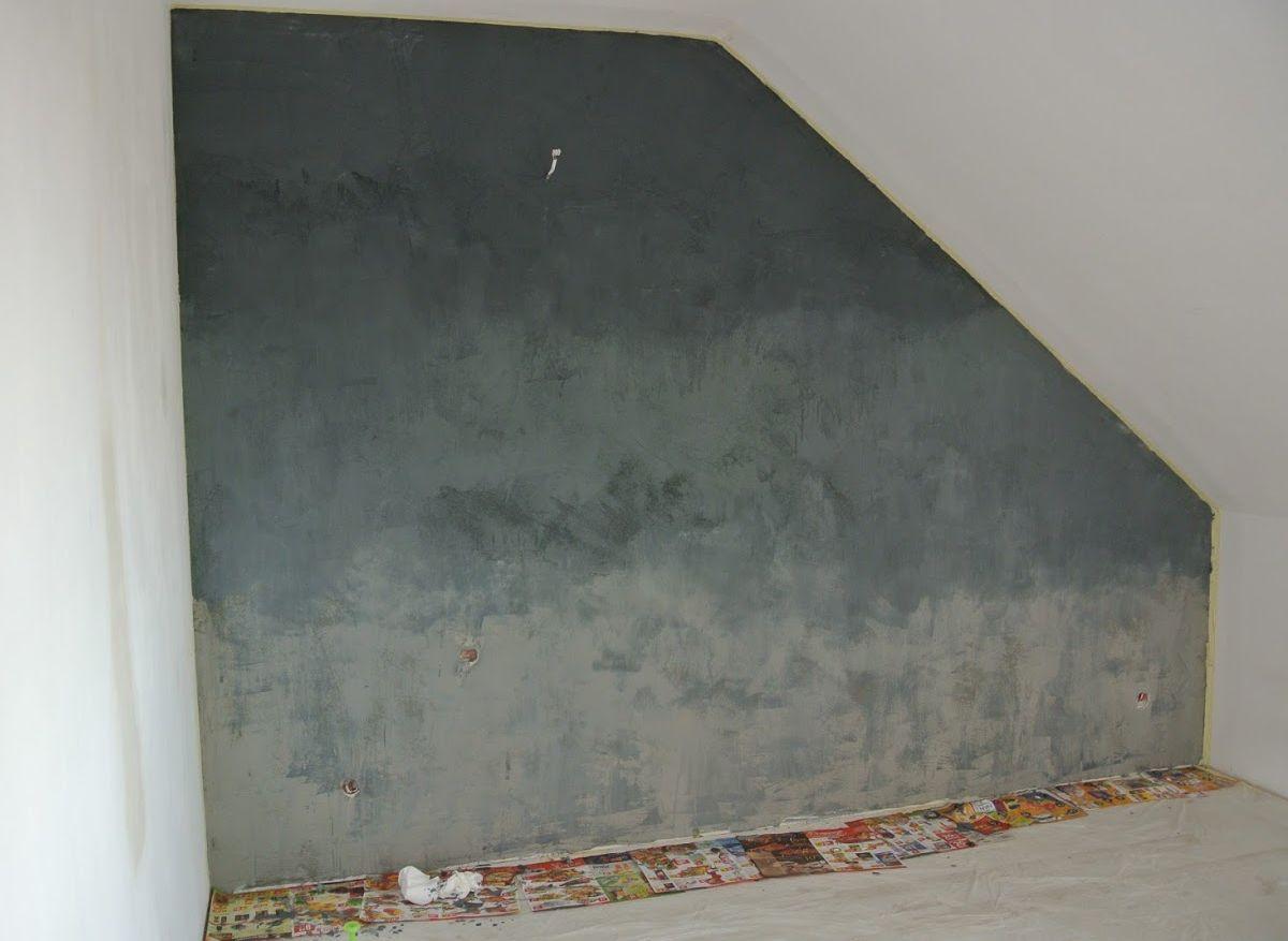 ściana z betonu diy